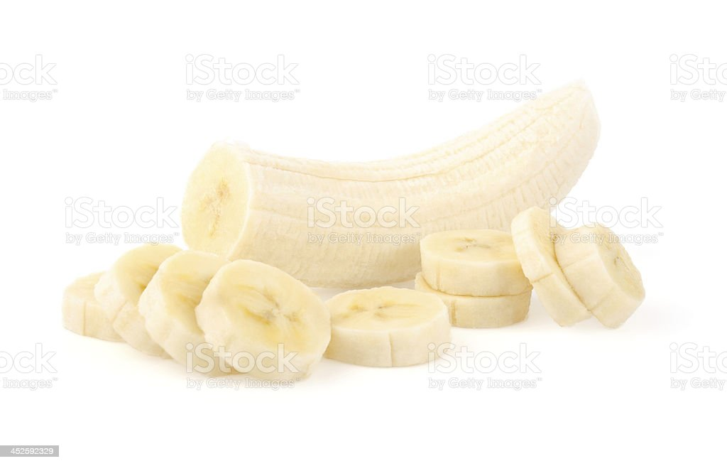 Banana Slices stock photo