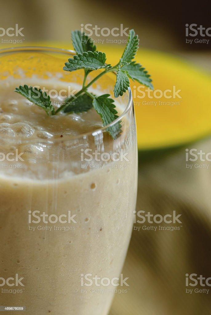 Banana Smoothie royalty-free stock photo