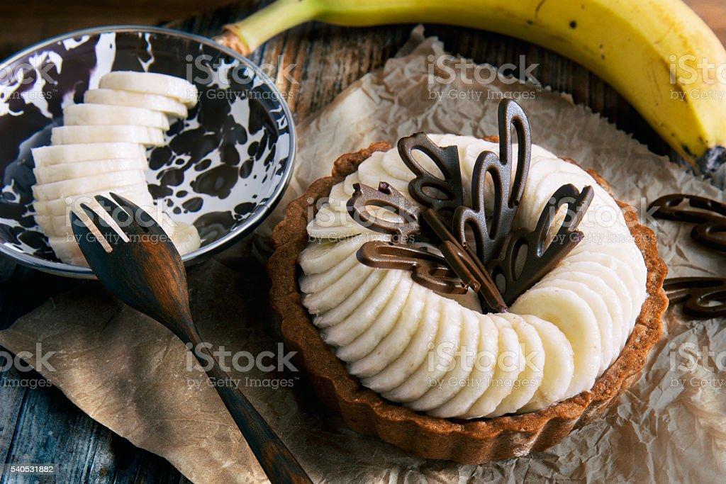 Banana Tart stock photo