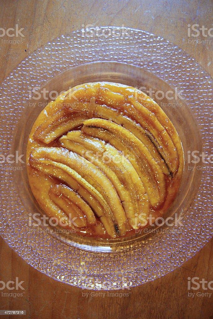 Banana Tart Tatin stock photo