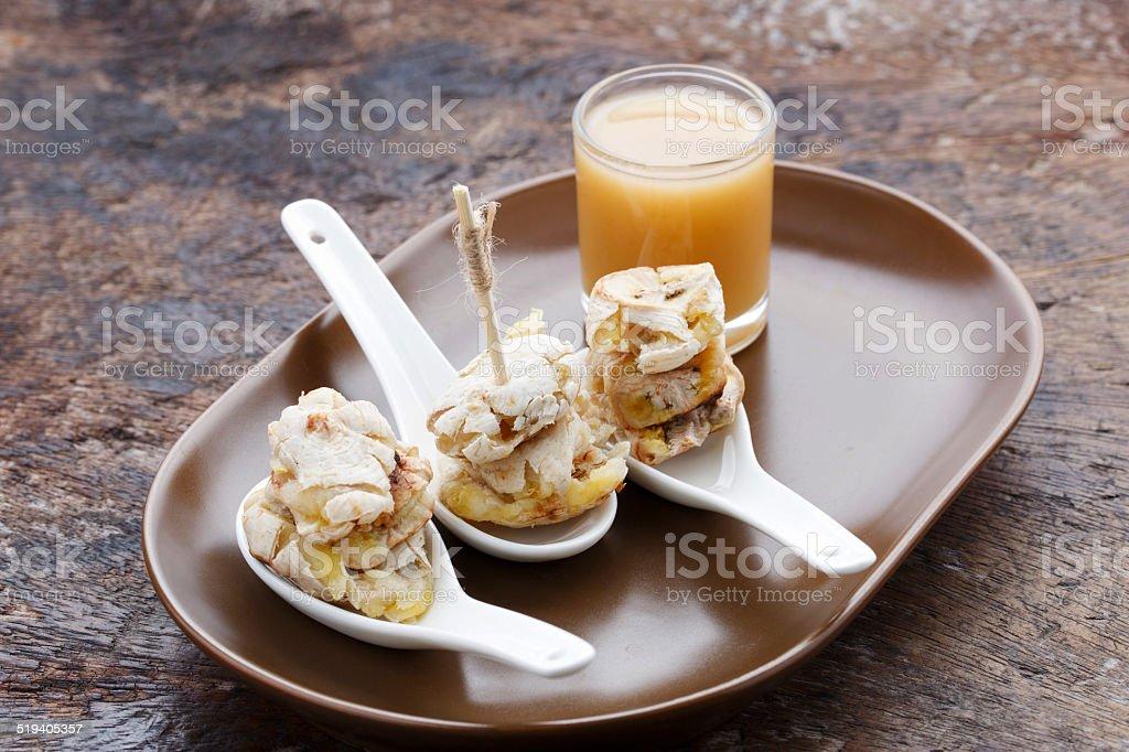 Banana toast stock photo