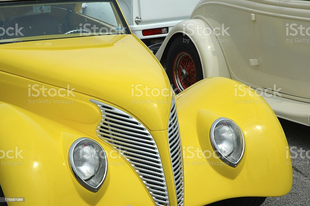 Banana Yellow Classic Street Rod royalty-free stock photo