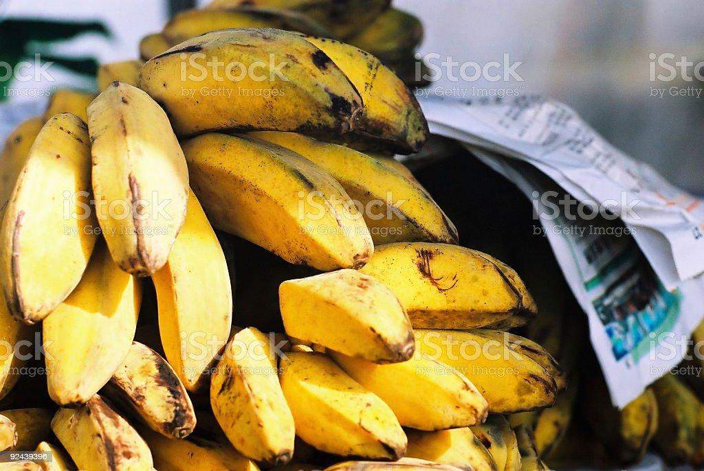 Bananas at roadside stall, Malaysia royalty-free stock photo