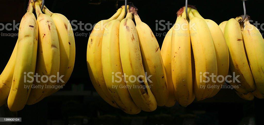 bananas at the market royalty-free stock photo