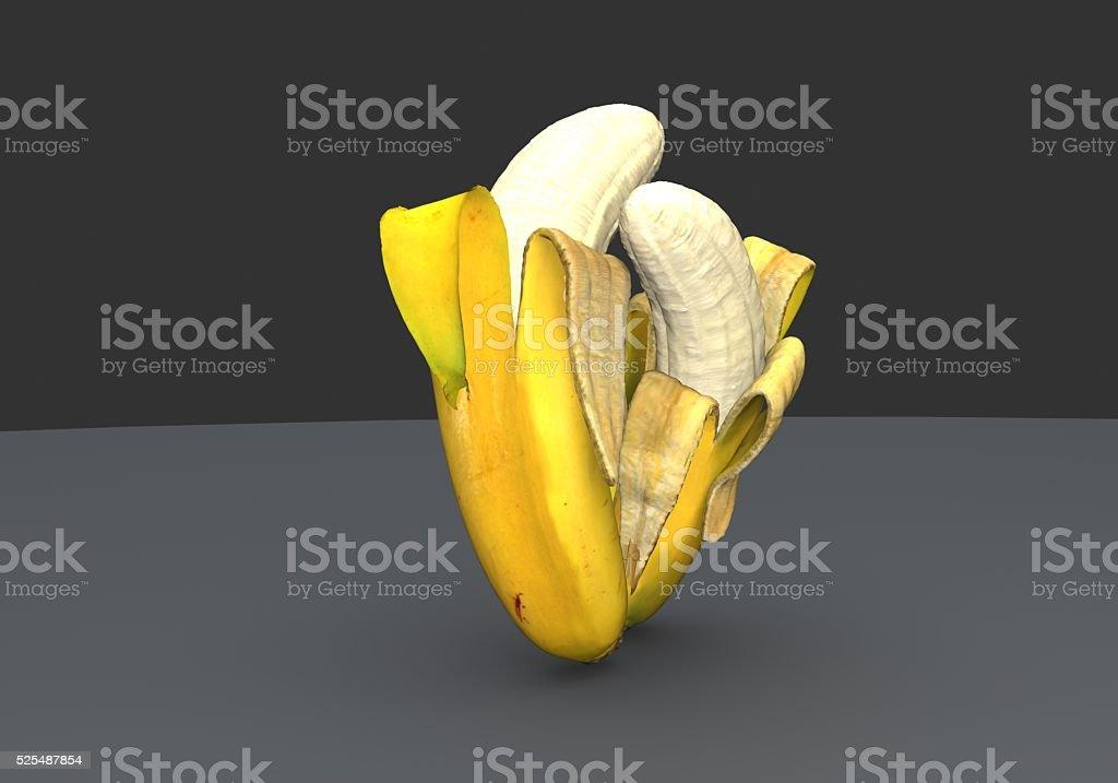 Bananas cuddle stock photo