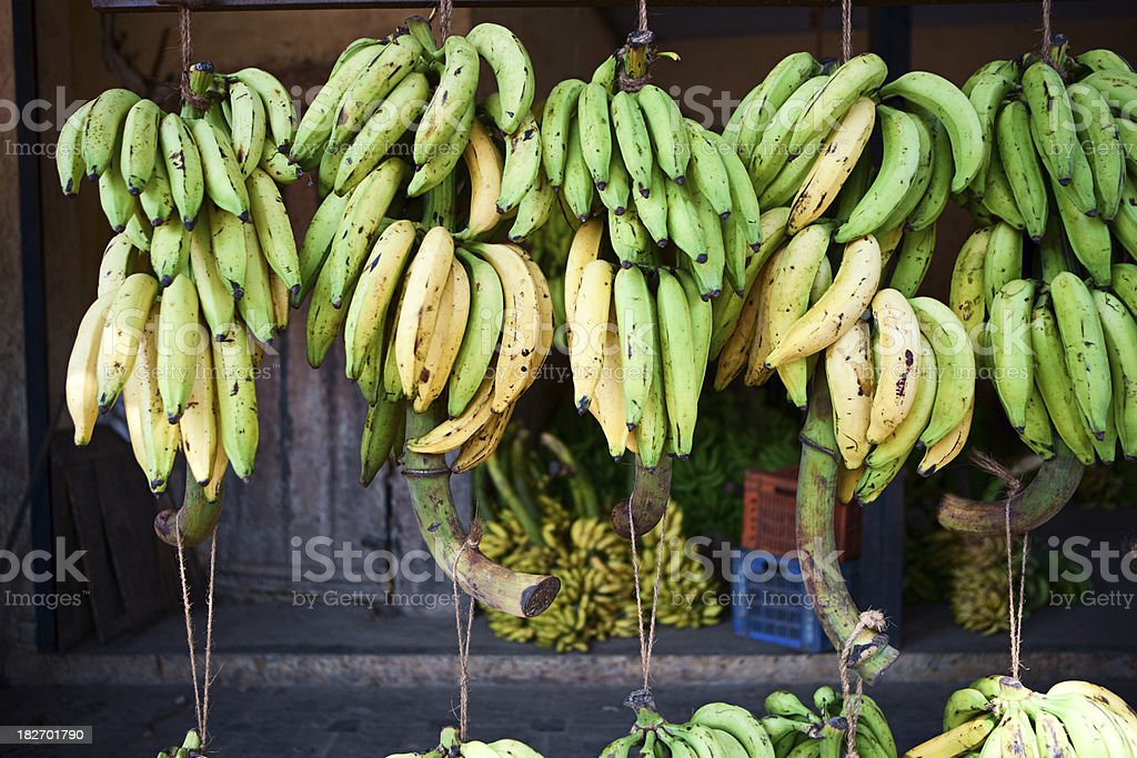 Bananas for sale royalty-free stock photo