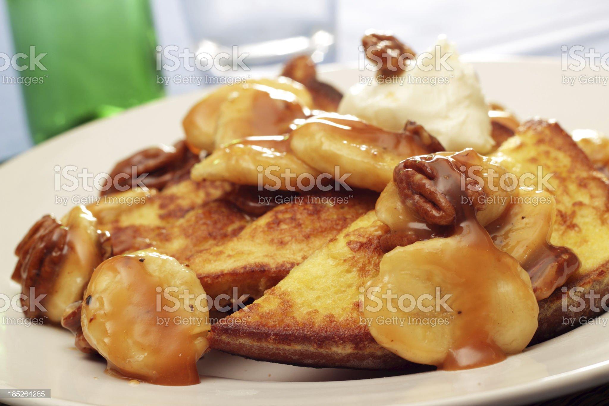 Bananas Foster French Toast royalty-free stock photo