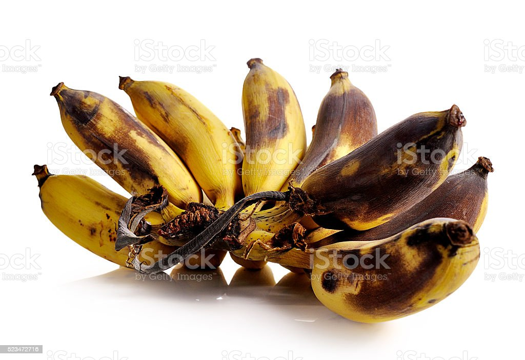 bananas isolated on the white background stock photo