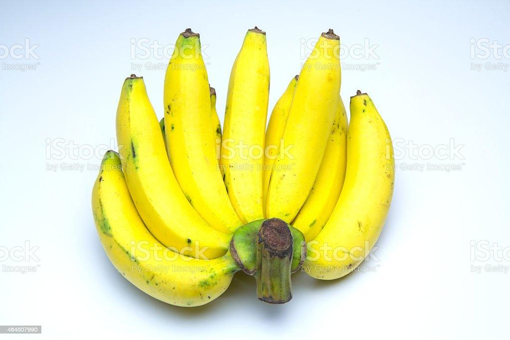 bananas isolated over white background royalty-free stock photo