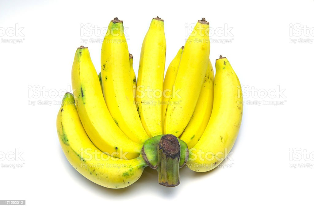 bananas isolated over white background royalty-free stock photo
