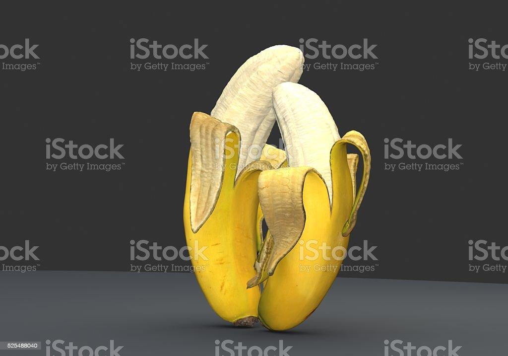 Bananas Kiss stock photo