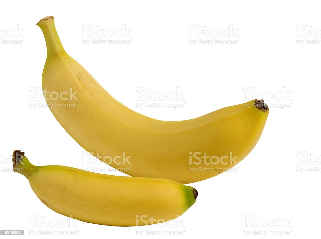 Banane w/clipping path foto stock royalty-free