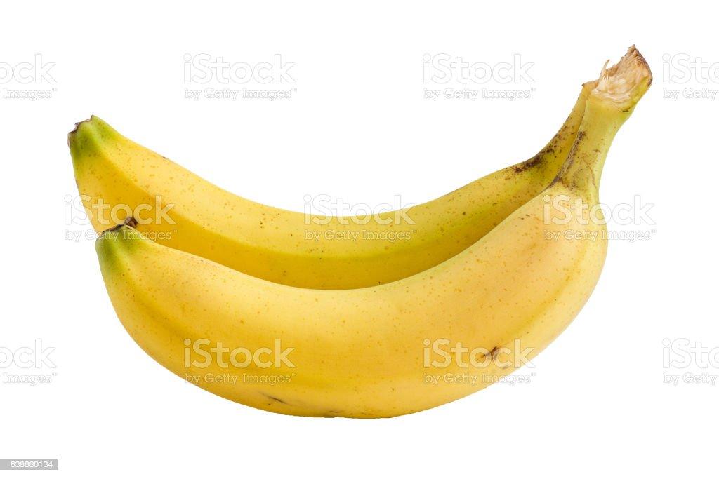 Bananes sur fond blanc stock photo