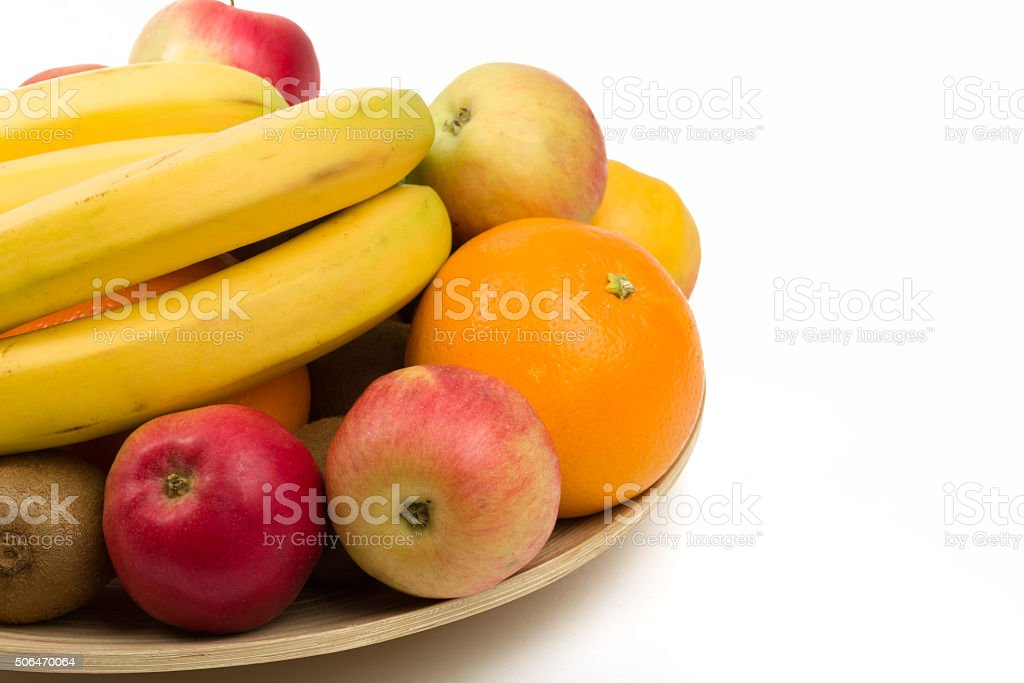 bananna and other fruit stock photo