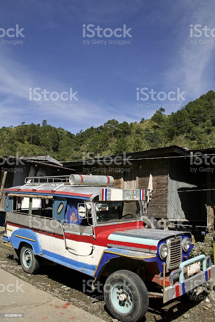 banaue jeepney philippines local transport royalty-free stock photo
