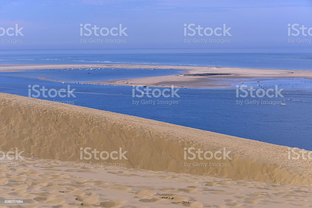 Banc of Arguin seen from Dune Pilat stock photo