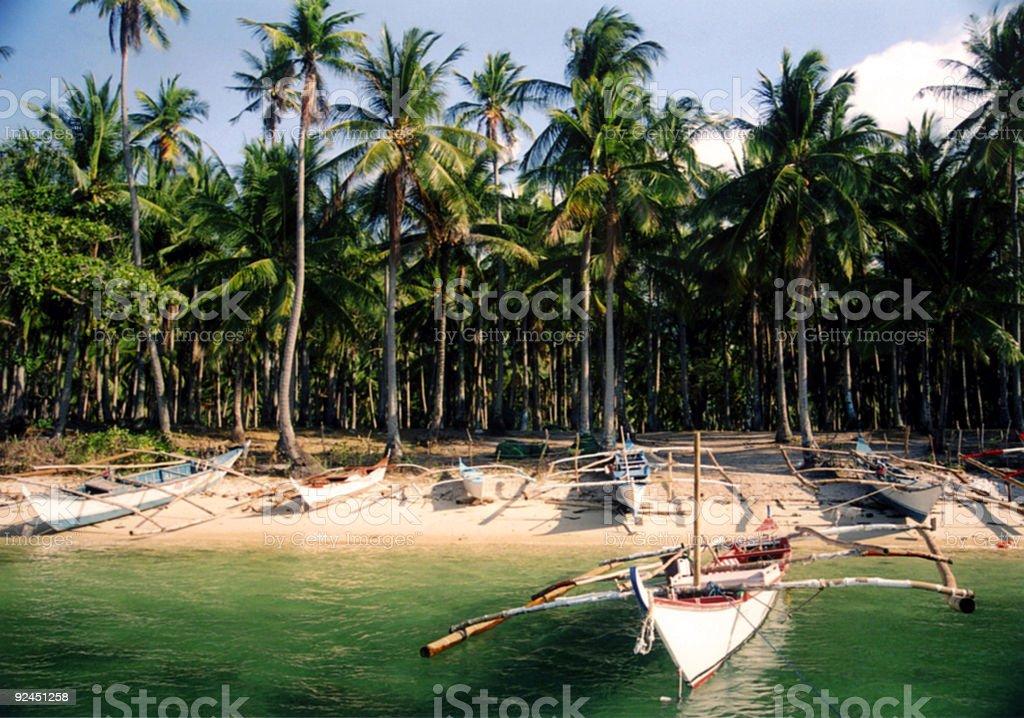 banca bay mindoro island  philippines royalty-free stock photo