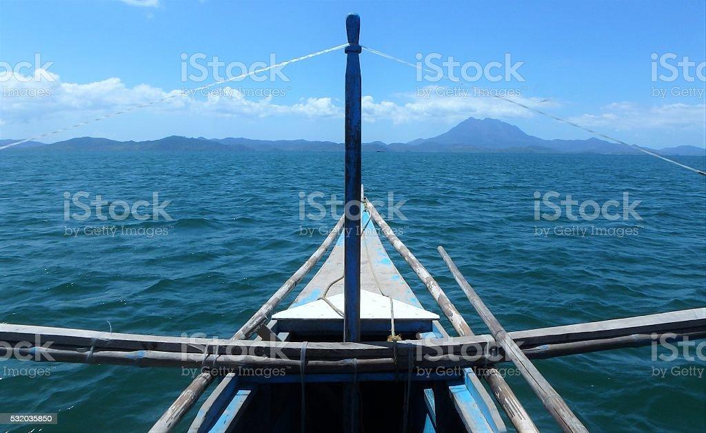 Banca Island hopping stock photo