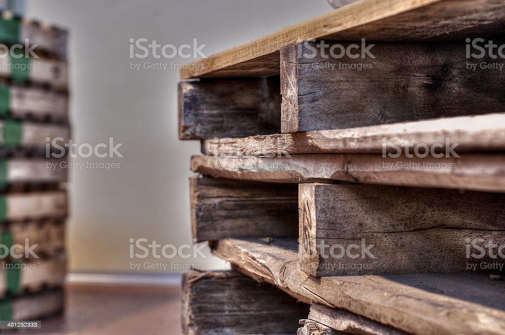 Bancali da trsporto stock photo