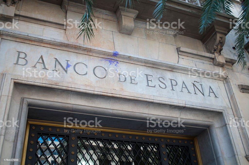 Banco de España stock photo
