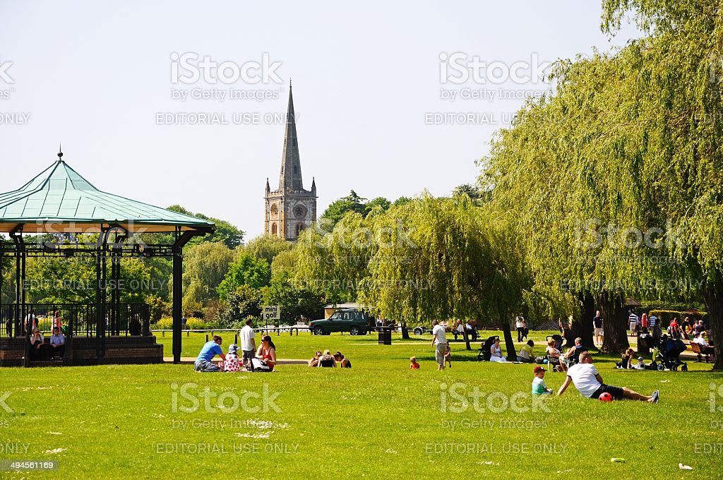 Bancroft Gardens, Stratford-upon-Avon. stock photo