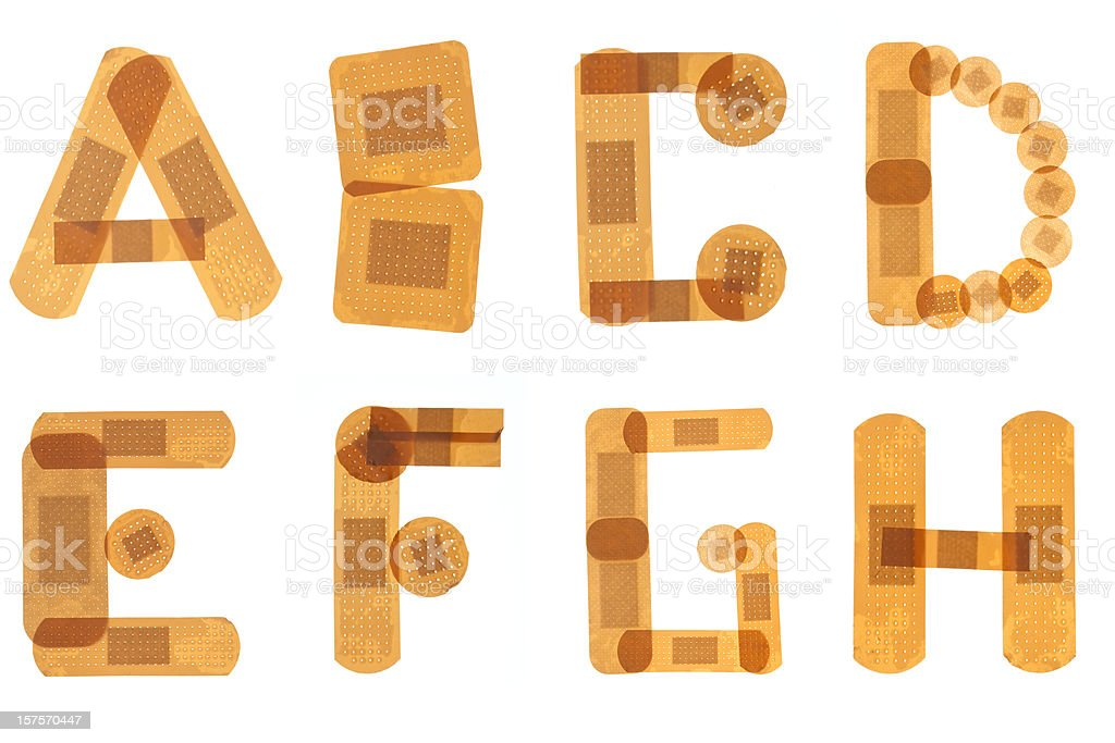 Band aid alphabet royalty-free stock photo