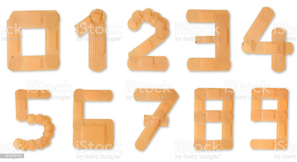 Band aid alphabet (clipping paths) stock photo
