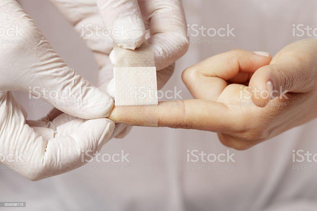 Band aid stock photo