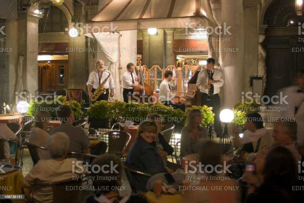 Band at the St. Mark's Square in Venice, Italy stock photo