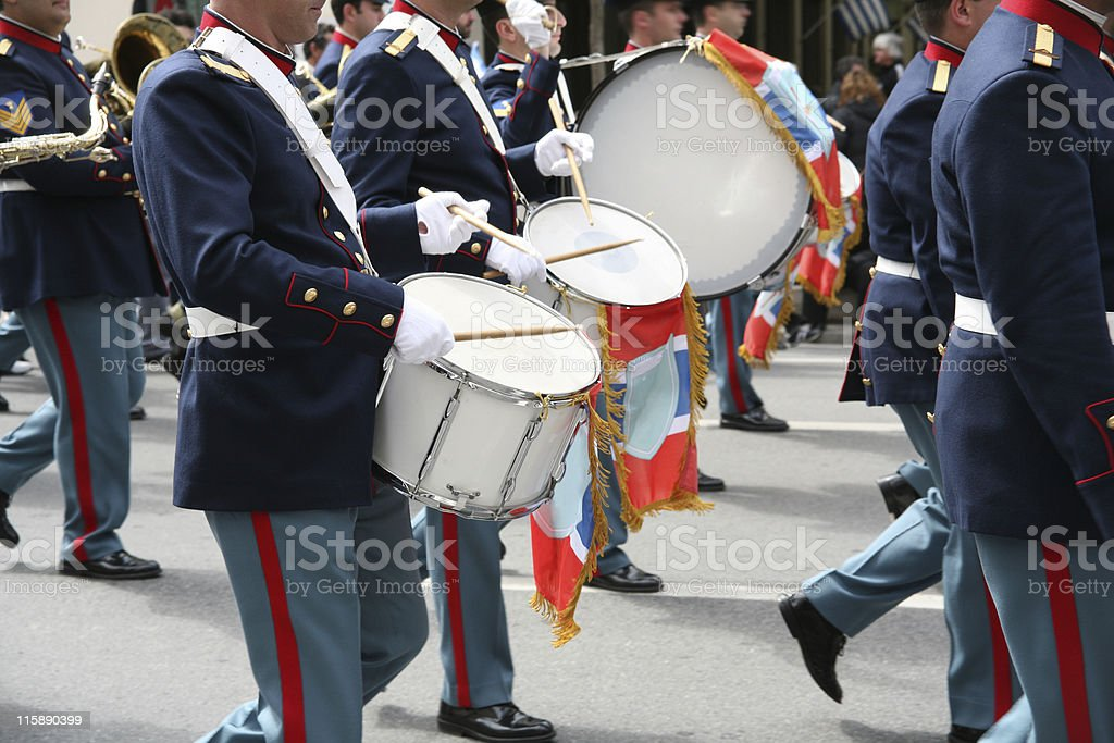 Band drummers stock photo