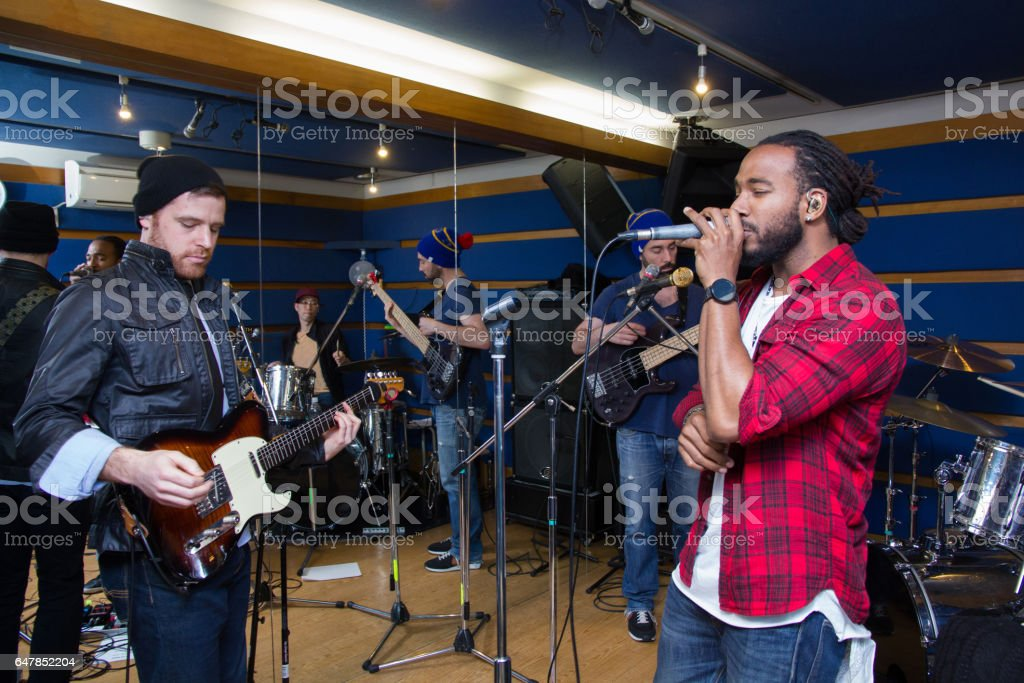 Band In A Studio stock photo