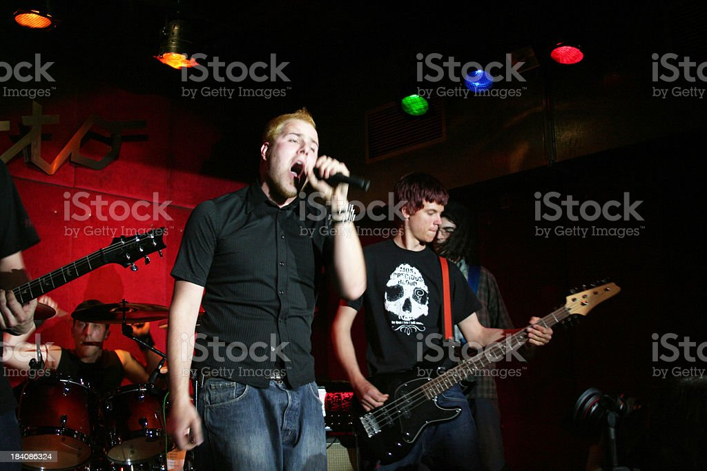 Band in action stock photo
