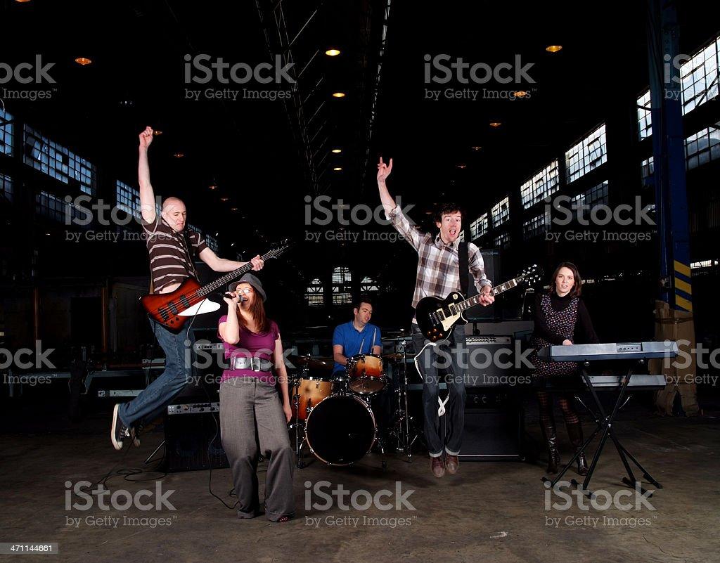 Band Jump royalty-free stock photo