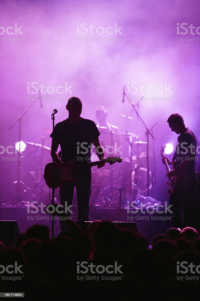 Band Live in silhouette royalty-free stock photo