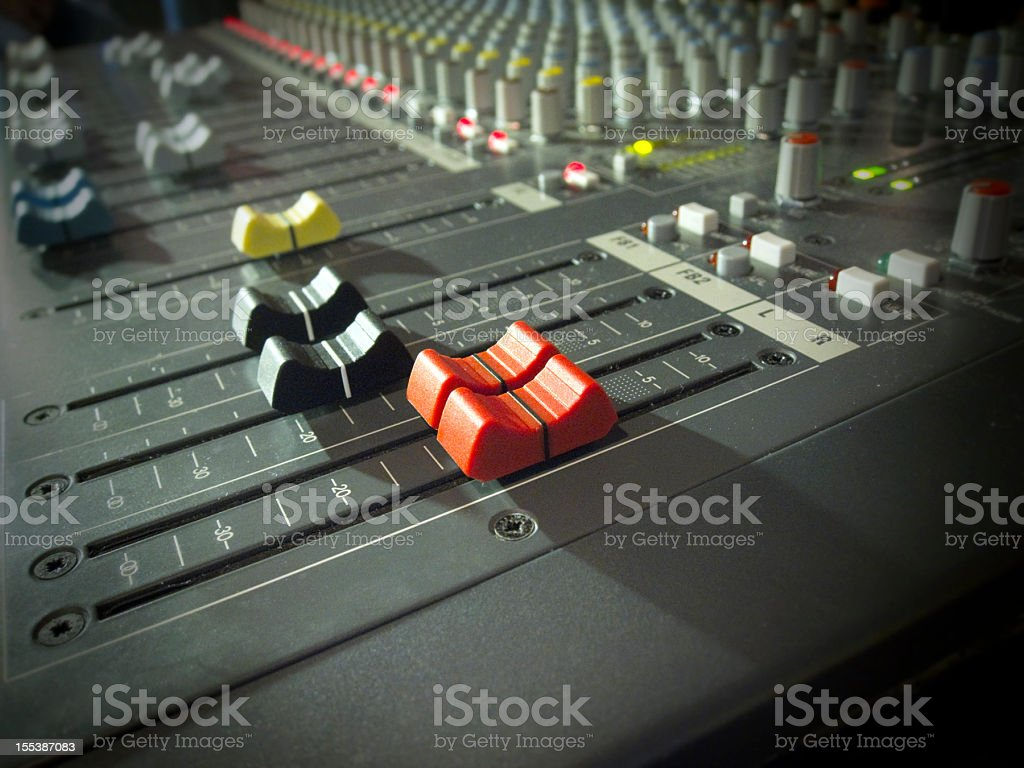 Band mixer in night club stock photo