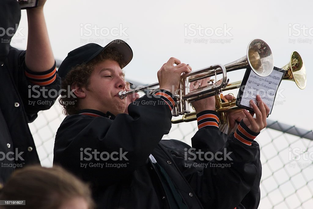 Band Music at the Football Game royalty-free stock photo