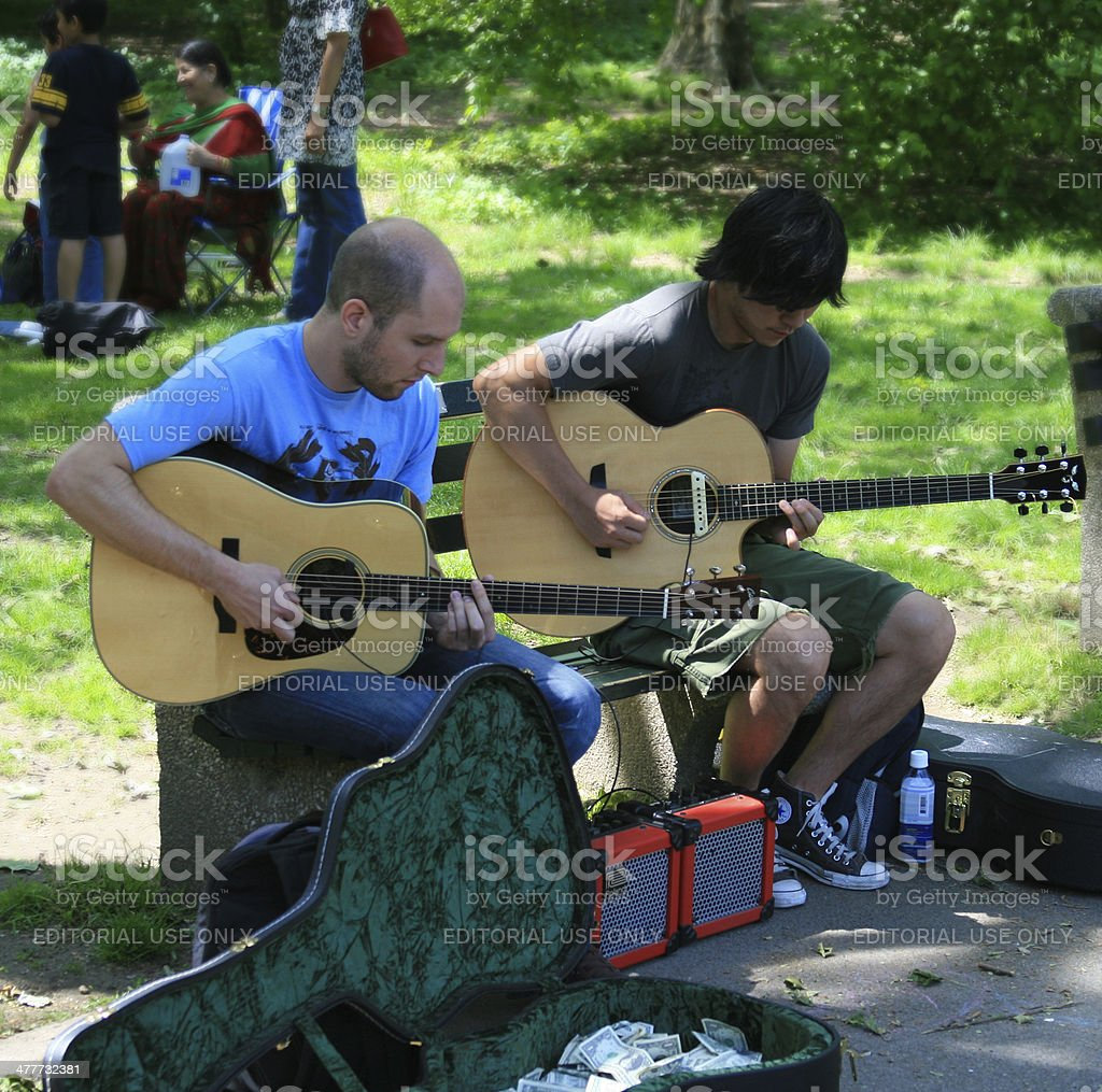 Band of a street musicians in New York City. royalty-free stock photo