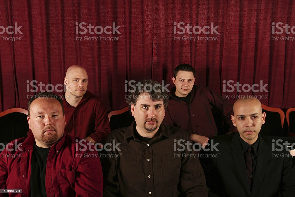 band of men in theater royalty-free stock photo