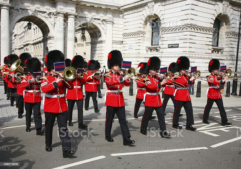 Band of the Coldstream Guards royalty-free stock photo