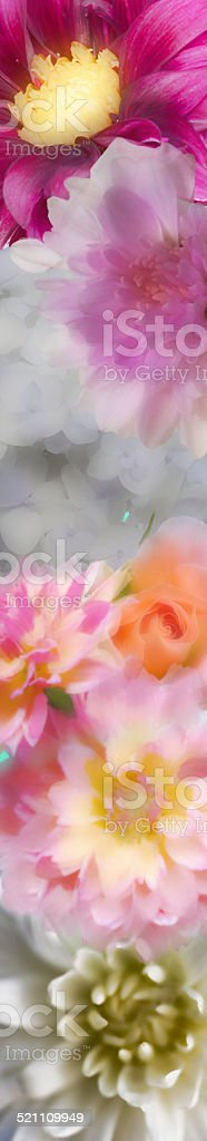 Band of Watercolor Flowers stock photo
