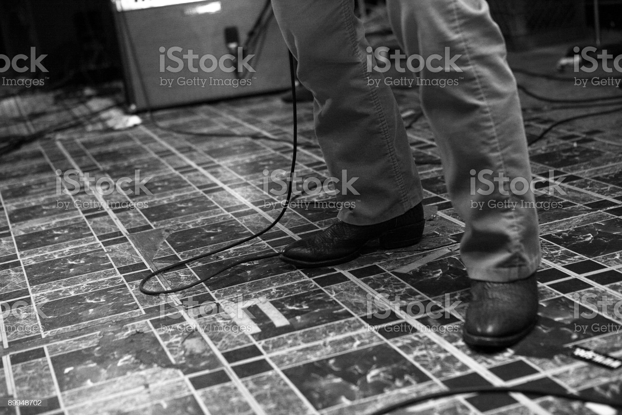 Band Playing A Show. royalty-free stock photo