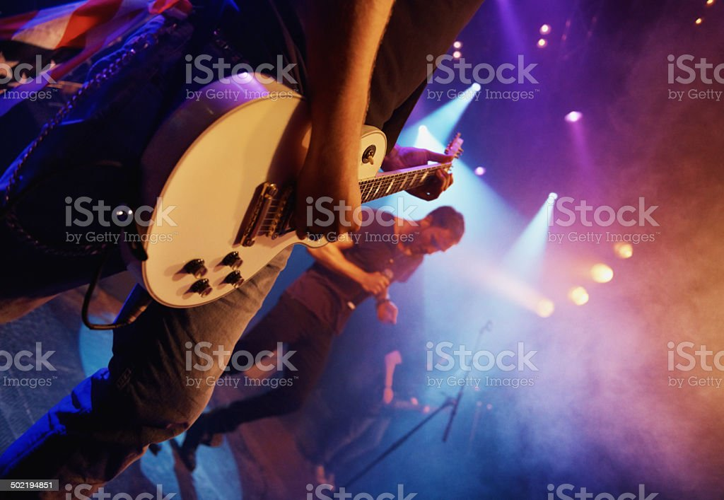Living the dream this band is! stock photo