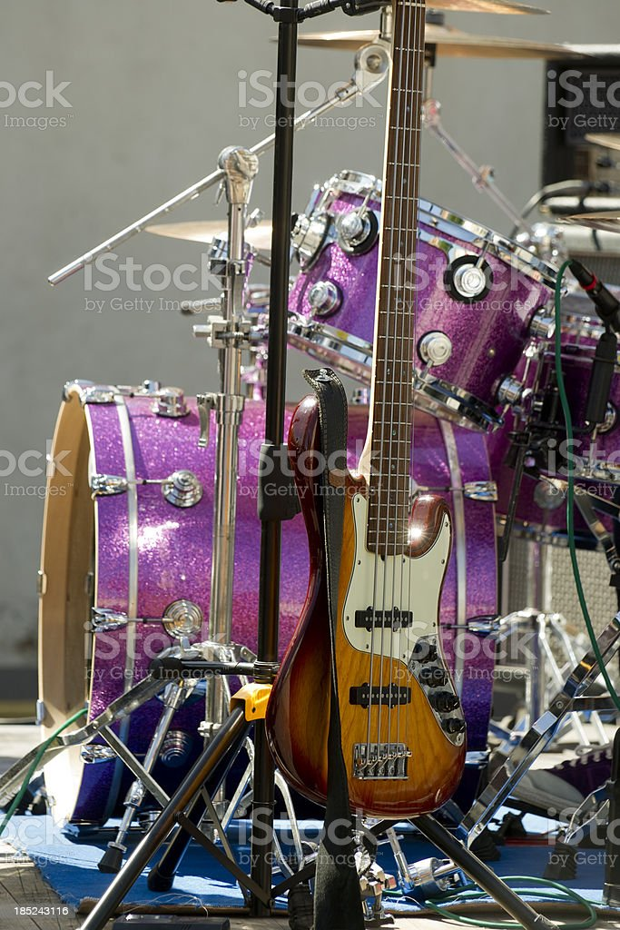Band stage stock photo