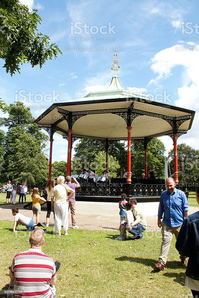 Band Stand in Greenwhich stock photo