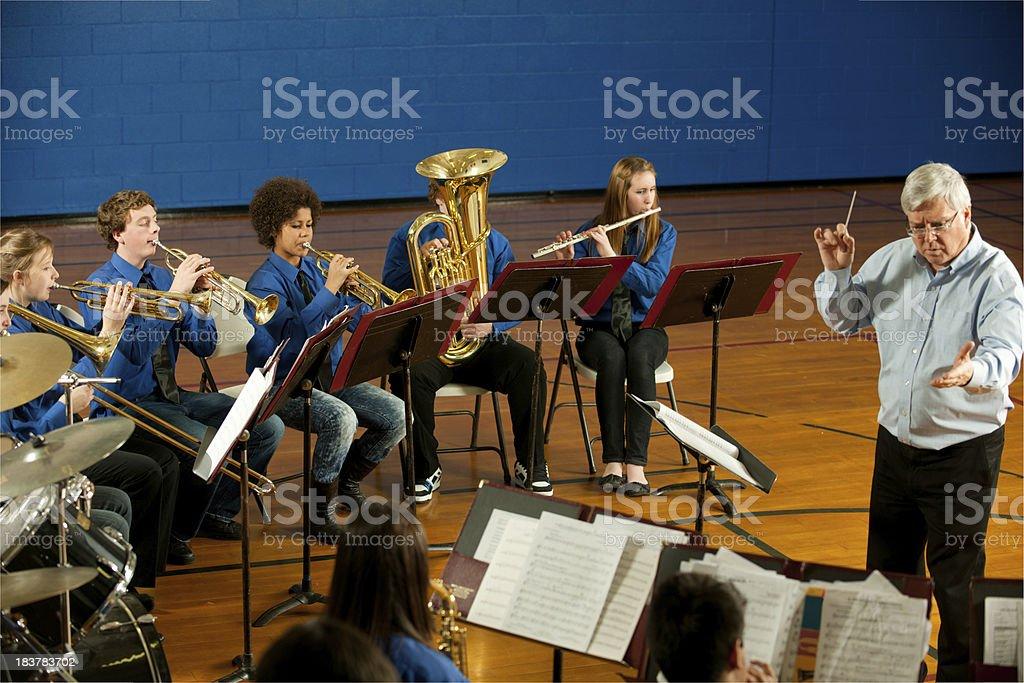 Band teacher stock photo
