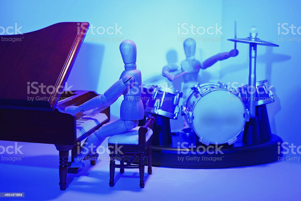 Band with piano and percussion royalty-free stock photo