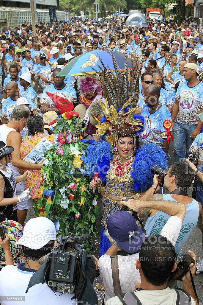 Banda de Ipanema parading in Rio royalty-free stock photo
