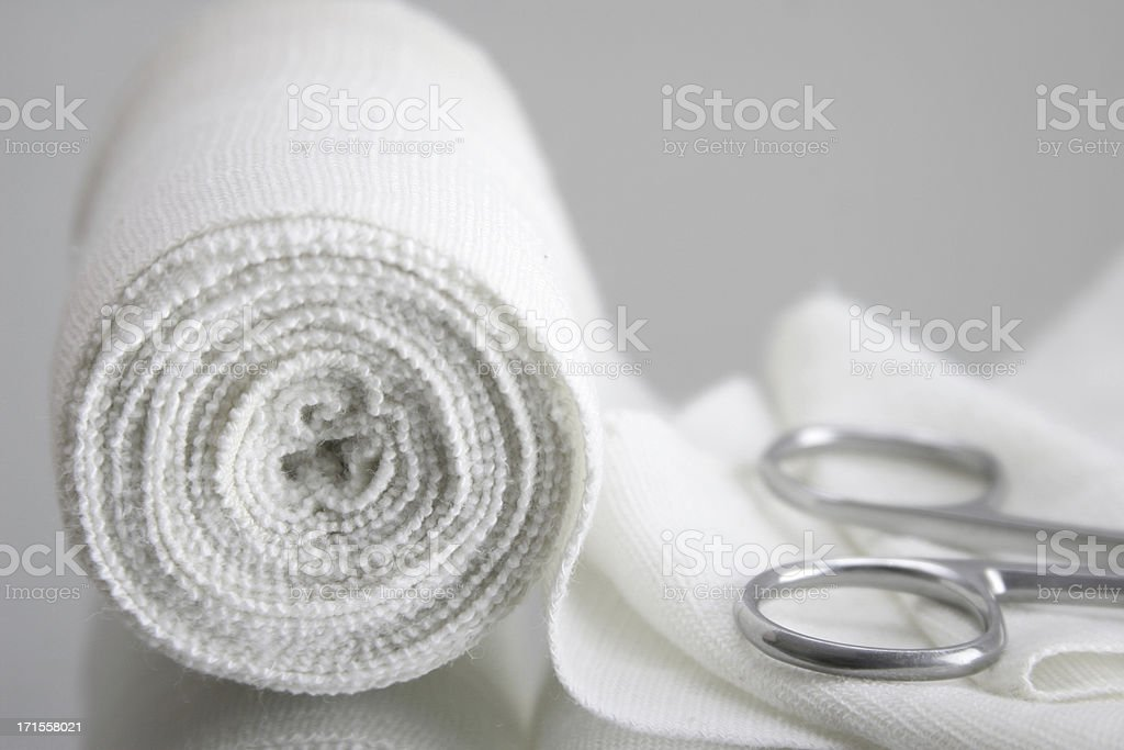 bandage and scissors, health care stock photo