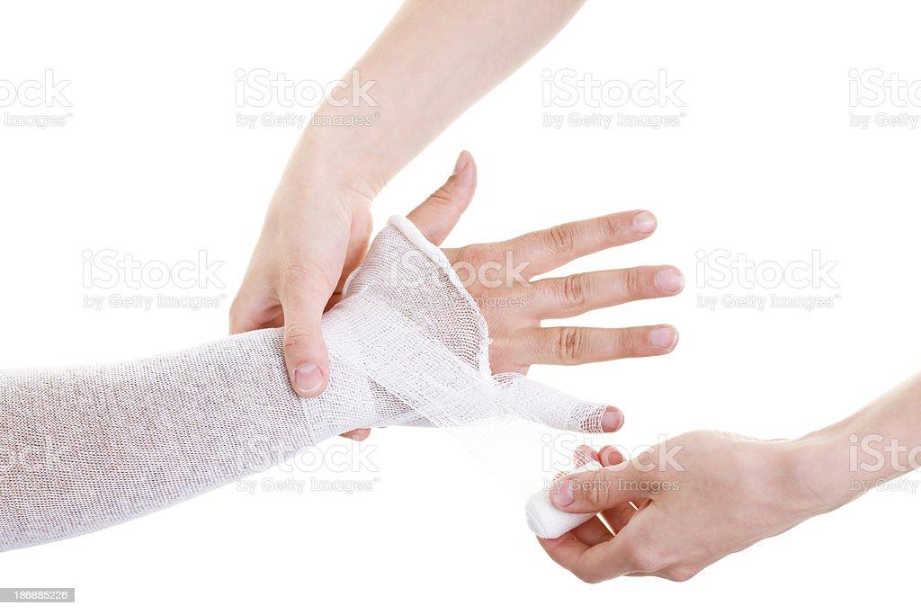 bandage for hand royalty-free stock photo