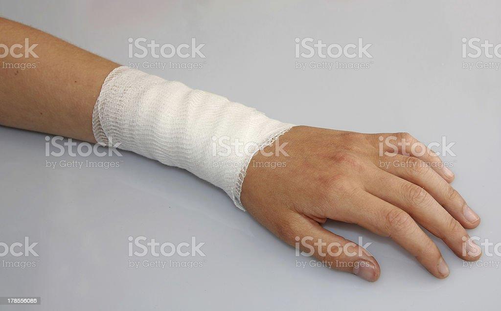 bandaged arm of a child royalty-free stock photo